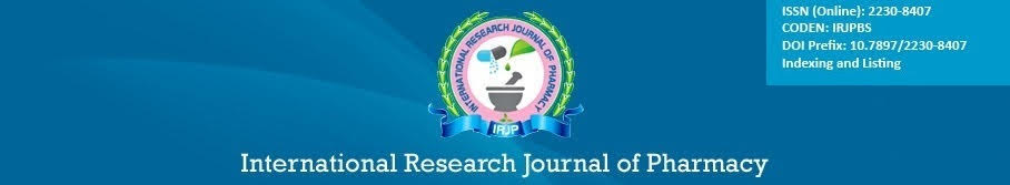 Research papers in pharmacy